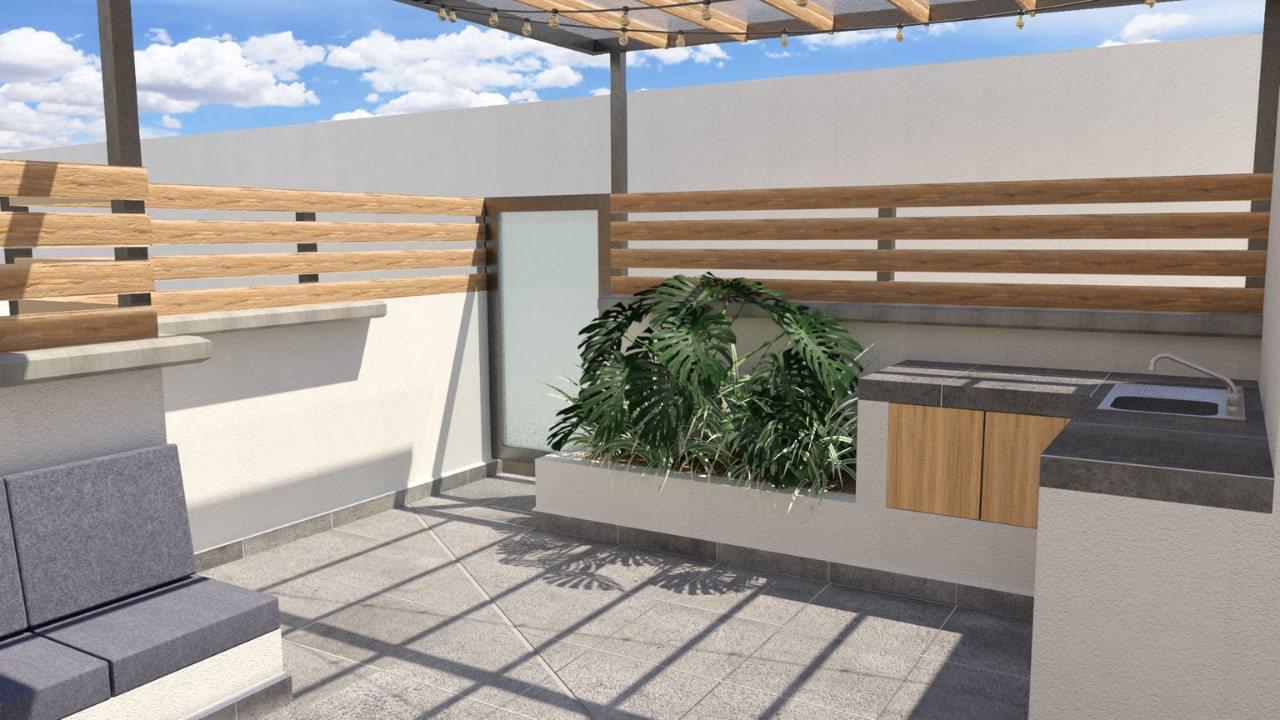 Acceso cocina roof garden obrero mundial