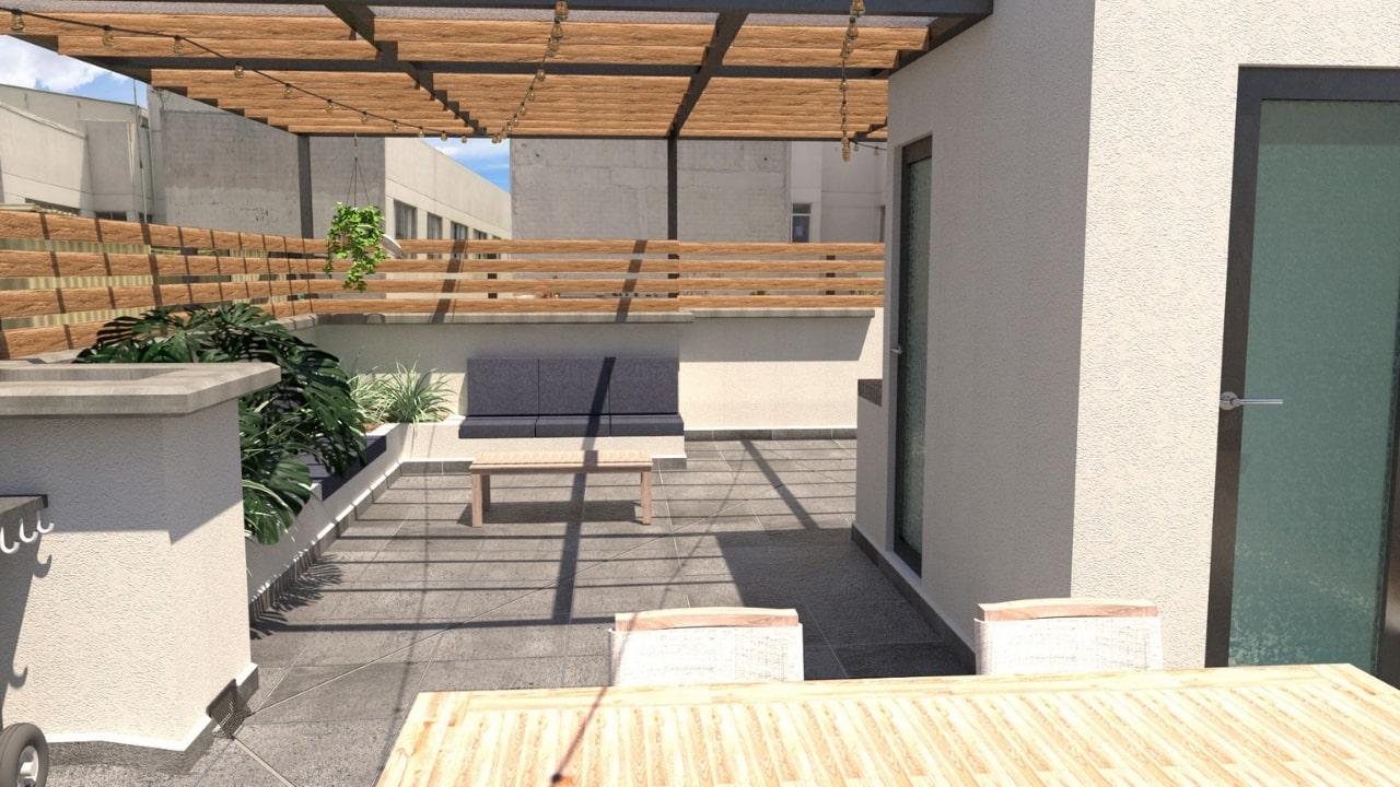 Bodega baño sala roof garden obrero mundial
