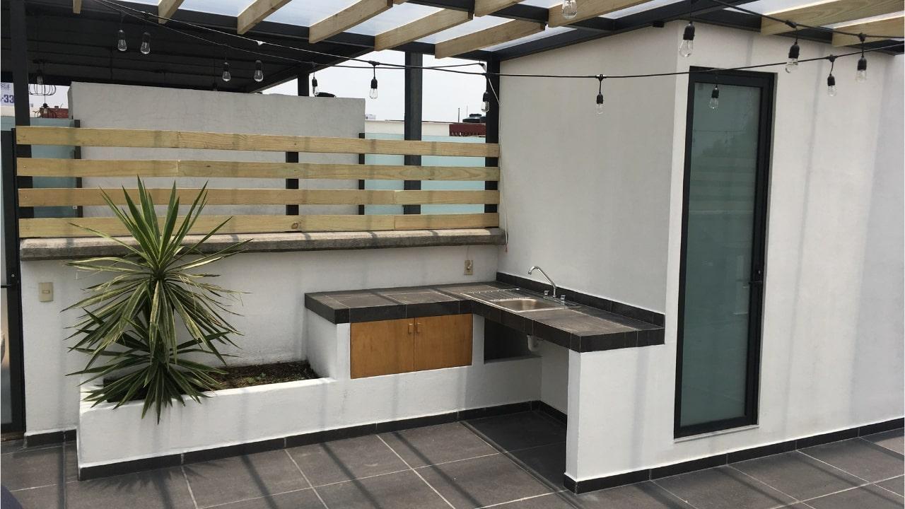 Cocina baño roof garden obrero mundial