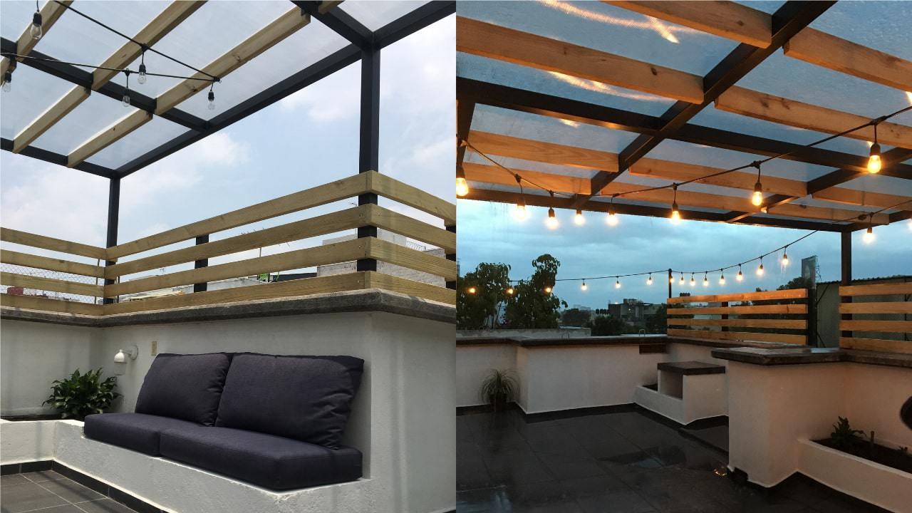 Roof garden obrero mundial día y noche