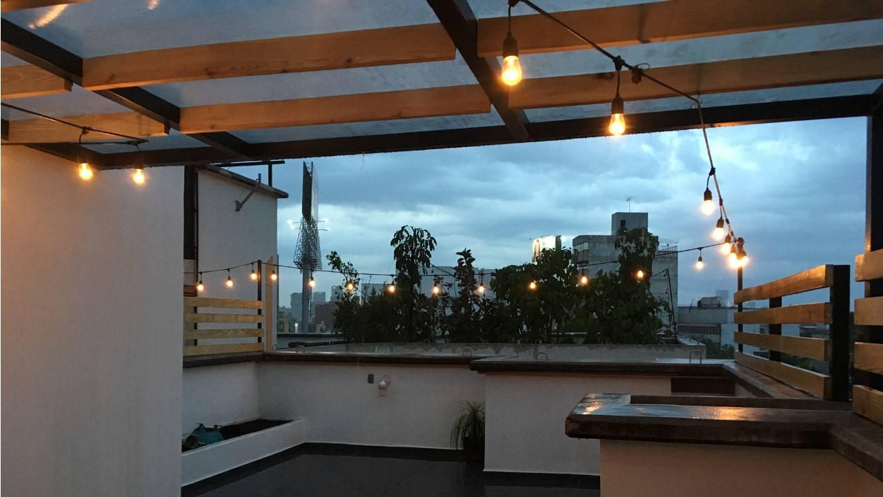 Roof garden obrero mundial noche