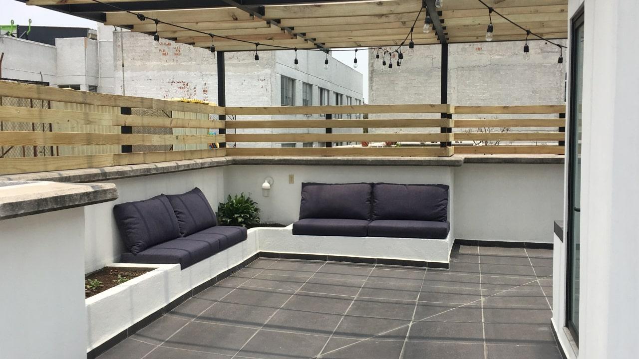 Sala baño roof garden obrero mundial