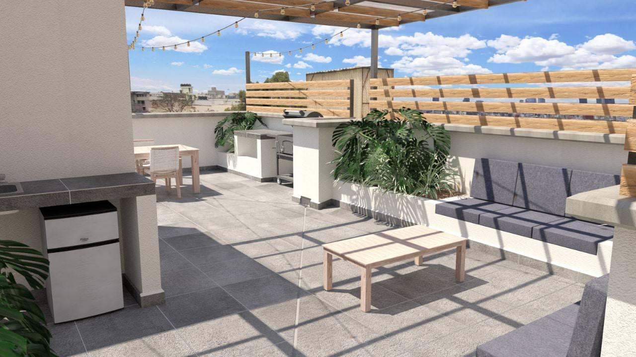 Sala cocina roof garden obrero mundial