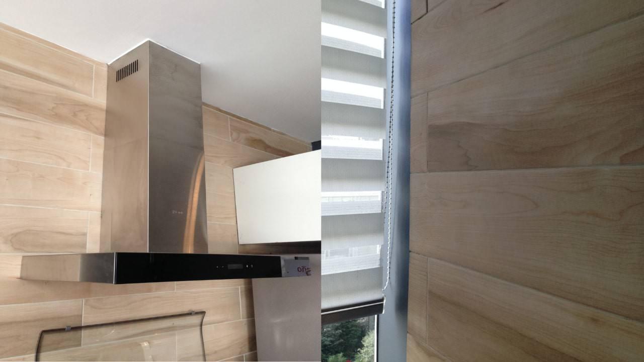 Campana para cocina porcelanato madera residencial wtc
