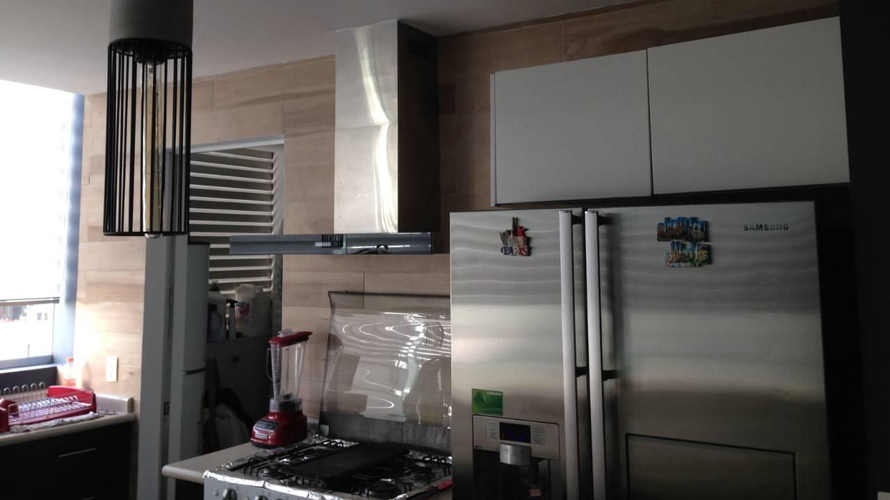 Lampara de concreto porcelanato madera residencial wtc
