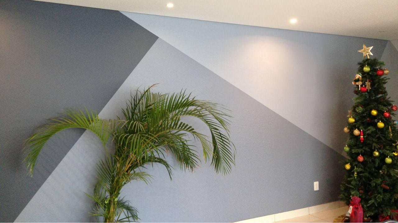 Pintura triángulos residencial wtc