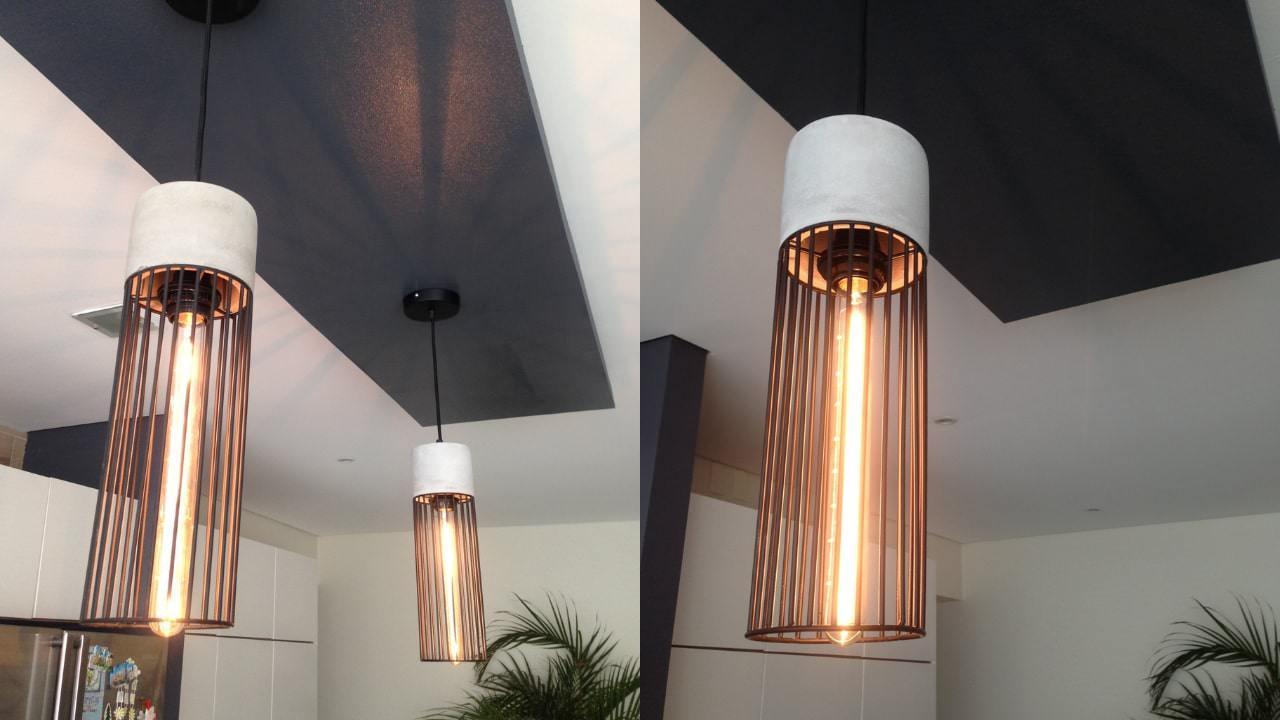 Plafon flotado y lampara de concreto residencial wtc