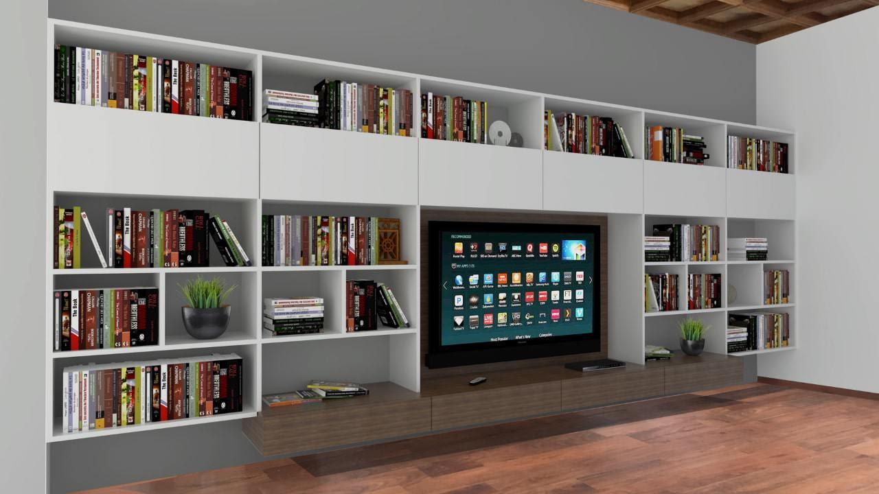 mueble librero para televisión
